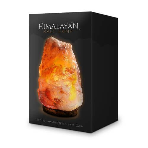 Himalájai sóból készült lámpa