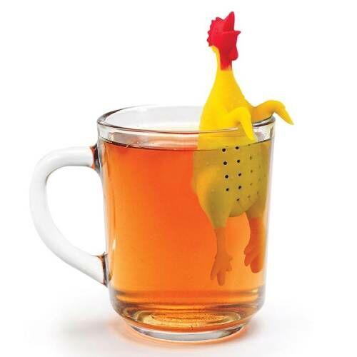 Gumicsirke kinézetű teafű áztató tökéletes teakedvelő ajándék