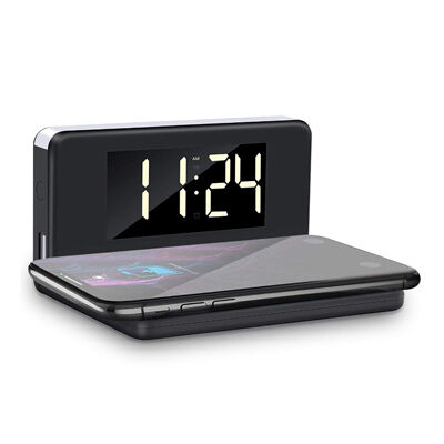 Wireless mobiltöltő digitális kijelzős ébresztőórával